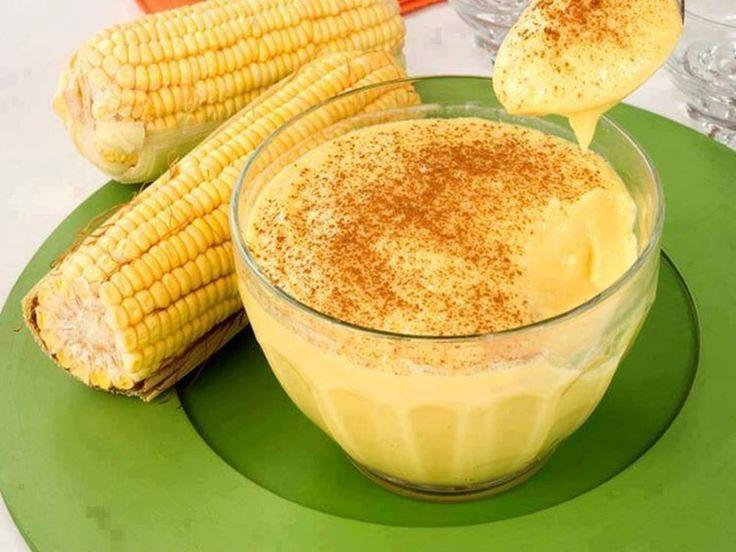 Curau Cremoso de Milho Verde - http://www.receitasbrasileiraseportuguesas.com/curau-cremoso-de-milho-verde/