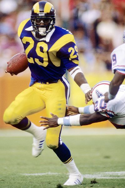 #29 Eric Dickerson - Finished 3rd in Heisman Trophy voting, 1982, behind 2nd place John Elway, and winner Herschel Walker