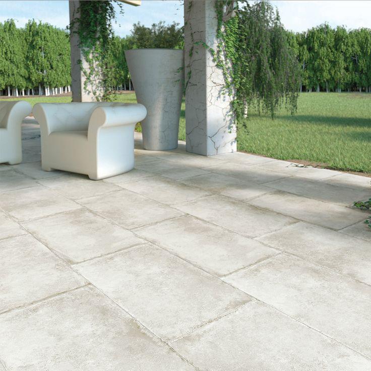 Carrelage Terrasse Anti Derapant Effet Pierre 50x100 Olimpia Grip Naturel Collection Esedra Naxos