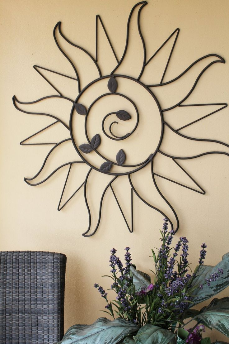 Plastec Sun Sprout Dark Bronze Wall Decor
