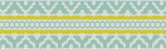 Peyote Cuff Pattern Geometry by tropicalkaren on Etsy