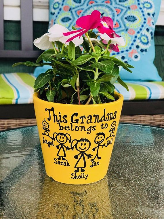 Personalized flower pot, Mothers Day Gift, Flower pot