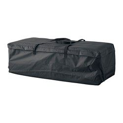 TOSTERÖ Storage bag for pads and cushions, black - black - IKEA