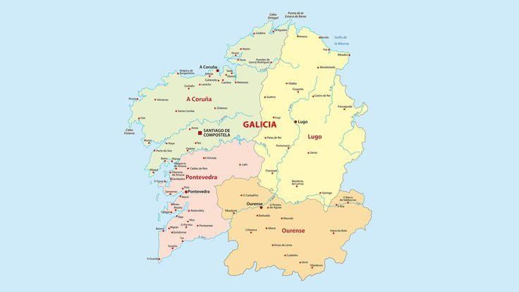 Mapa político de Galicia