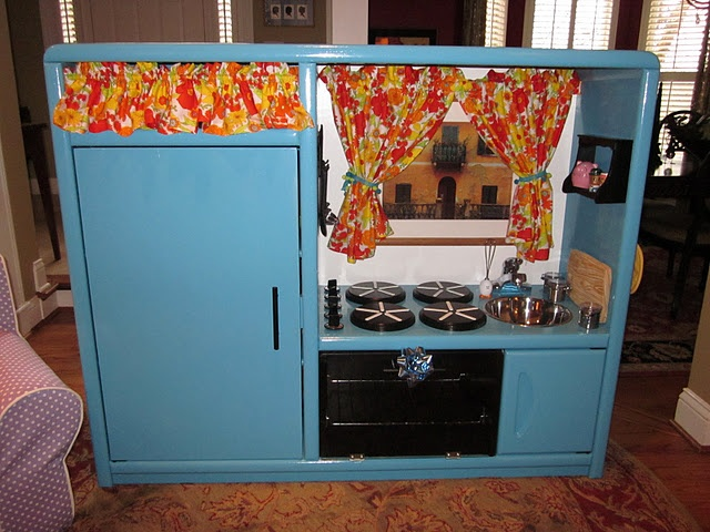 Diy Play Kitchen From Entertainment Center Kids Pinterest Plays And Kitchens
