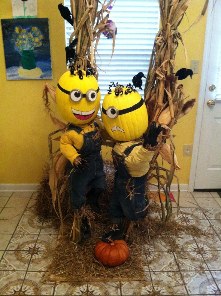 Scarecrow Minioms Craft For Kids Pinterest
