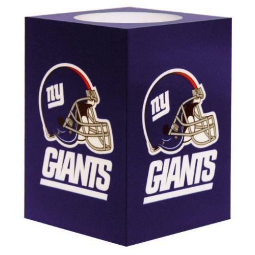 New York Giants Team Logo NFL New York Giants Square Flameless Candle, Football