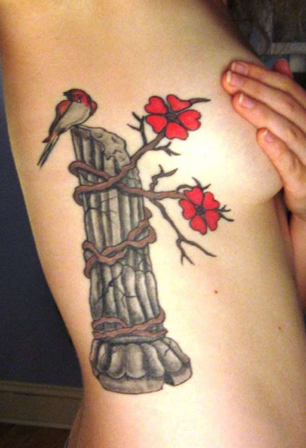 48 Rib Cage Tattoos for Girls
