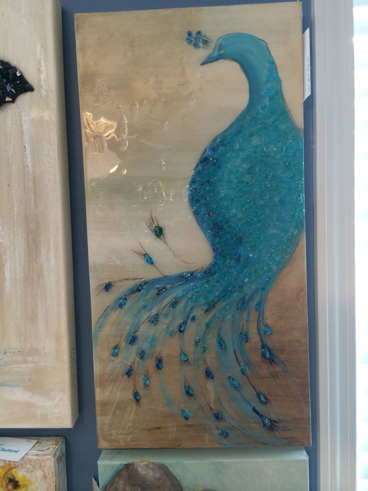 Peacock. Art Shattered located in 44 Marketplace, Eatonton, GA