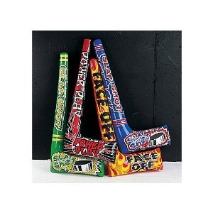 12 inflatable hockey sticks (party favors)  $12.37