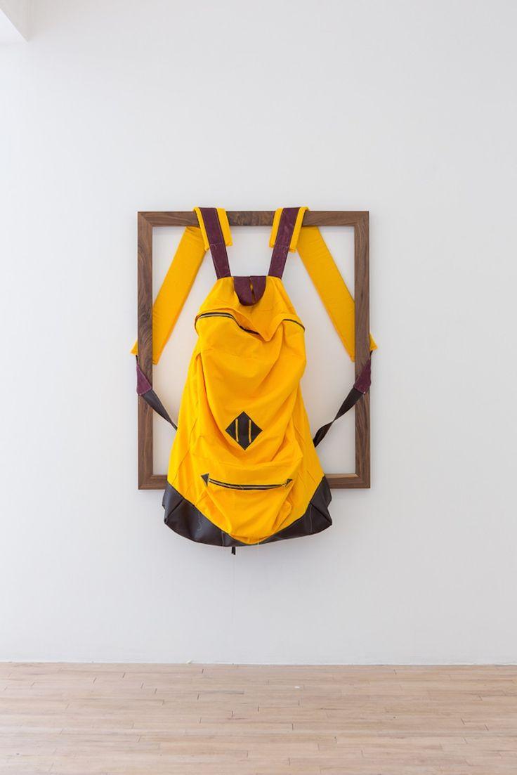 James Viscardi, Rucksack, 2014, cotton, pleather, 157 x 101 cm http://jamesviscardi.com/ http://www.thesundaypainter.co.uk/ http://www.lastresortgallery.com/ http://www.suzannegeiss.com/
