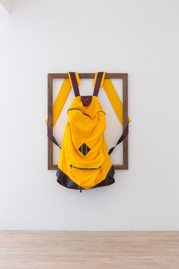 James Viscardi, Rucksack, 2014, cotton, pleather, 157 x 101 cm http://jamesviscardi.com/ http://www.thesundaypainter.co.uk/ http://www.lastresortgallery.com/ http://www.suzannegeiss.com/