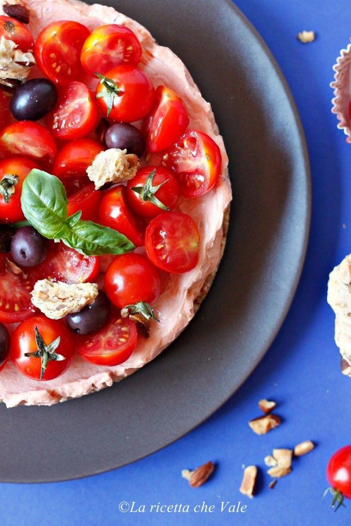 Cheesecake salata senza cottura al pomodoro   La ricetta che Vale