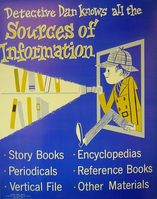 Detective Dan Knows All the Sources of Information by Enokson from Vintage Library Posters from the 1960s