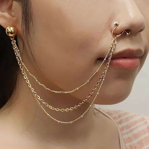 New-Septum-Nose-to-Ear-Chain-Non-Pierced-Nose-Ring-Pierced-Earring-PE1076