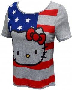 Hello Kitty American Flag T-Shirt