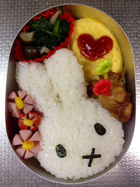 bento japan japanese egg rice miffy asian kawaii cute bunny lunch