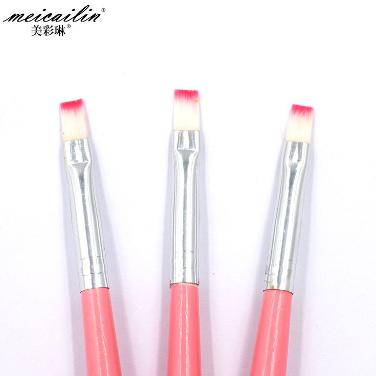 Professionals 1Pcs Nail Brush Pen Acrylic UV Gel Nails Art Pencil Flat Painting Drawing French Manicure Tools Nails Brush Pencil