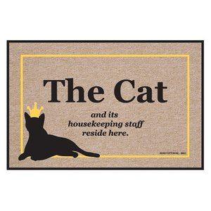 High Cotton Cat Housekeeping Staff Indoor / Outdoor Doormat