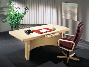 The photo shows  the following models in ash: 8101A-1 skyline desk 8497W executive chair w/leather 504 Bordeaux