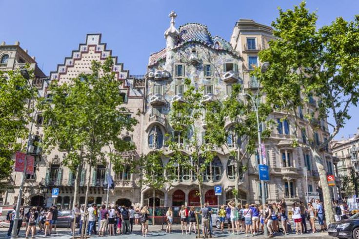 Casa Amatller and Casa Batlló at Passeig de Gracia. Image by Manfred Gottschalk / Getty images