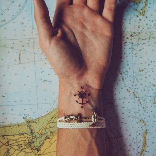 Mixes the nautical with the compass. I like.
