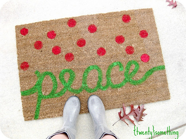 DIY Painted Welcome Mat