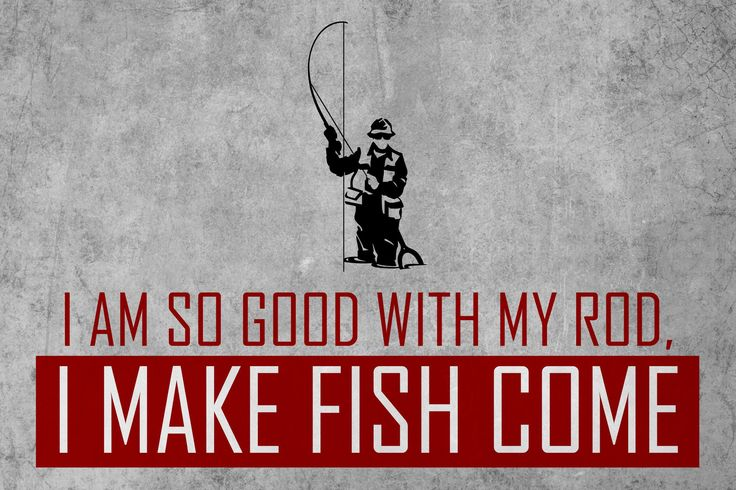 "If you are passionate about fishing and need some decoration for your man cave or garage, this sign is perfect for you! It's even a great gift! An gray aged looking sign with a quote in red saying: ""I"