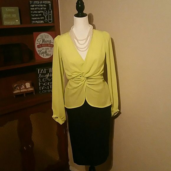 Neon Yellow Long Sleeve Top Neon Yellow Long Sleeve Top   Brand - Sis Sis  Excellent conditions   Super cute no damage no Stains   Worn once Tops Blouses