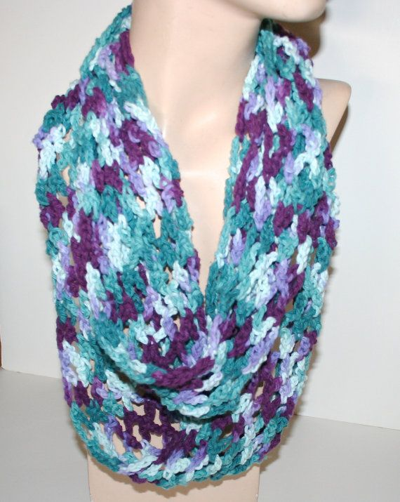 Women's Spring Cotton Infinity Scarf Cowl Ex by CzechBeaderyShop