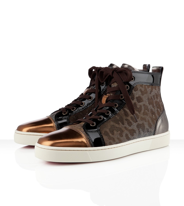 Louis Men's Flat, not a huge fan of animal print but its Christian Louboutin, how can one resist: But Flats, Men'S Flats, Crepes, Leopards Sneakers, Flats Metals, Huge Fans, Louis Flats