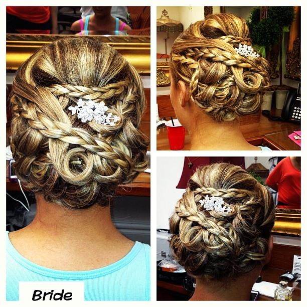 @cryistalchaos #bridalhair #highvoltagehairbycrystalcasey #hair #wedding #weddingday #updo #formal #757 #virginiabeach #modernsalon #braids #bride | The Yacht Club at Marina Shores