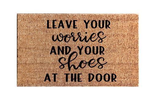 Shoes Off Door Mat Instructional Doormat Personalized Mat