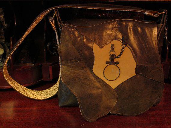 Sherlock Holmes Spy Glass Steampunk Victorian Leather Shoulder