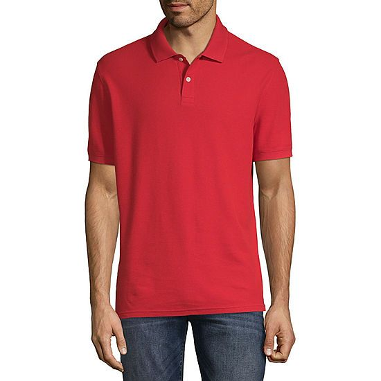 005d27bb3 St. John's Bay Short Sleeve Solid Performance Pique Polo Shirt ...