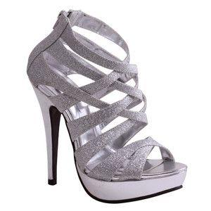 1000  images about silver high heels on Pinterest | Pump, Platform ...