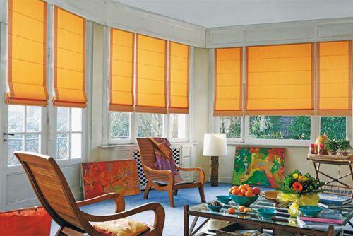 more orange roman blinds