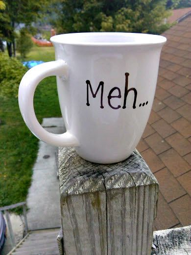 Meh. Coffee Mug Personalize it by VisibleScribbles on Etsy