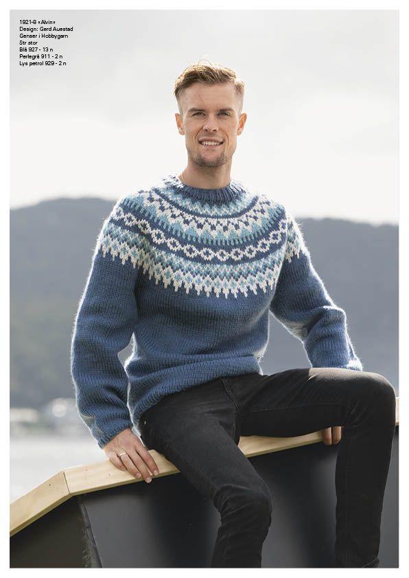 oppskrift genser viking hobbygarn