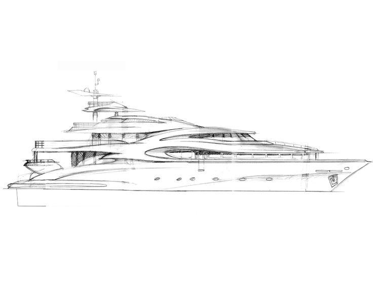 42 Meter Yacht Sketch