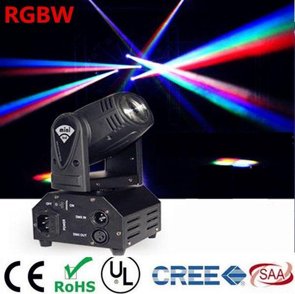 250.00$  Watch more here  -  12W Mini  moving head DMX512 light beam Lights  LED spot Lighting DJ Show Disco Laser Light RGBW 4in1 led  4pcs/lot