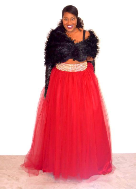 Plus Size Tutu Skirt  Full Length by SpoiledDiva on Etsy