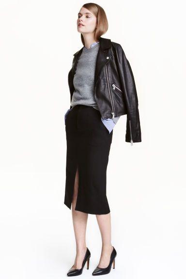 Falda lápiz en mezcla de lana | H&M