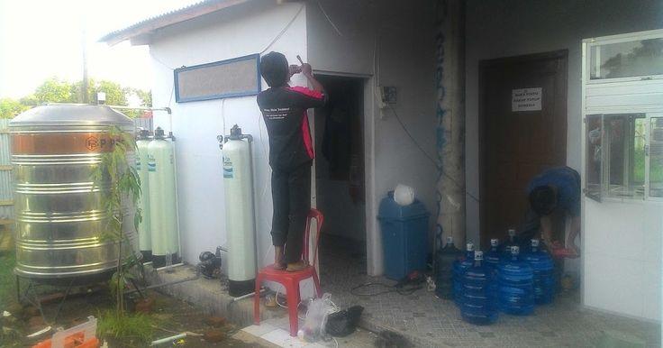 Pemasangan Filter Air Minum Isi Ulang Merek Vittera di Desa Tersana - Indramayu di PT BRANTAS ABI PRAYA sudah selesai dikerjakan oleh team ahli dari Vittera.
