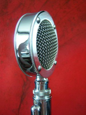 Vintage 1950's Astatic D 104 Crystal Microphone Old Deco Midcentury w G Stand | eBay