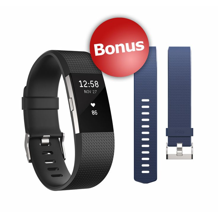Fitbit Charge HR 2 Wireless Activity Tracker with Bonus Band - Small size please (TLH). On Amazon they have a few silver watch type bands for this now.