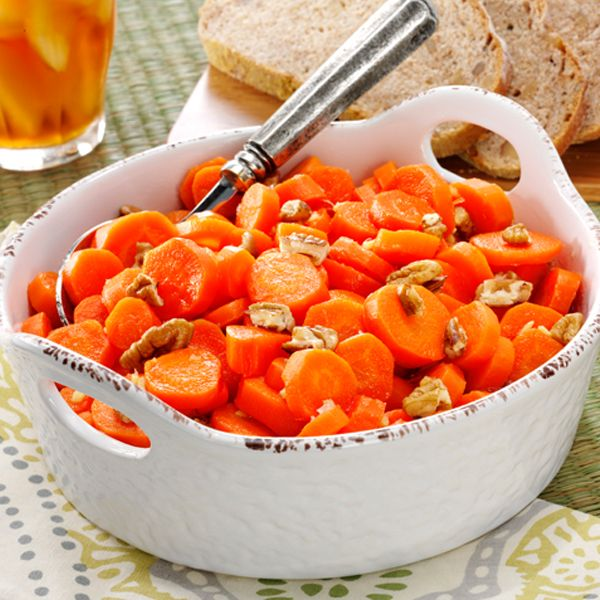 Honey Ginger Glazed Carrots #thinkfisher http://www.fishernuts.com/recipes/sides/Honey-Ginger-Glazed-Carrots