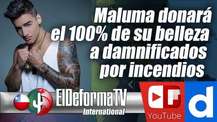 Maluma donará el 100% de su belleza a damnificados por incendios