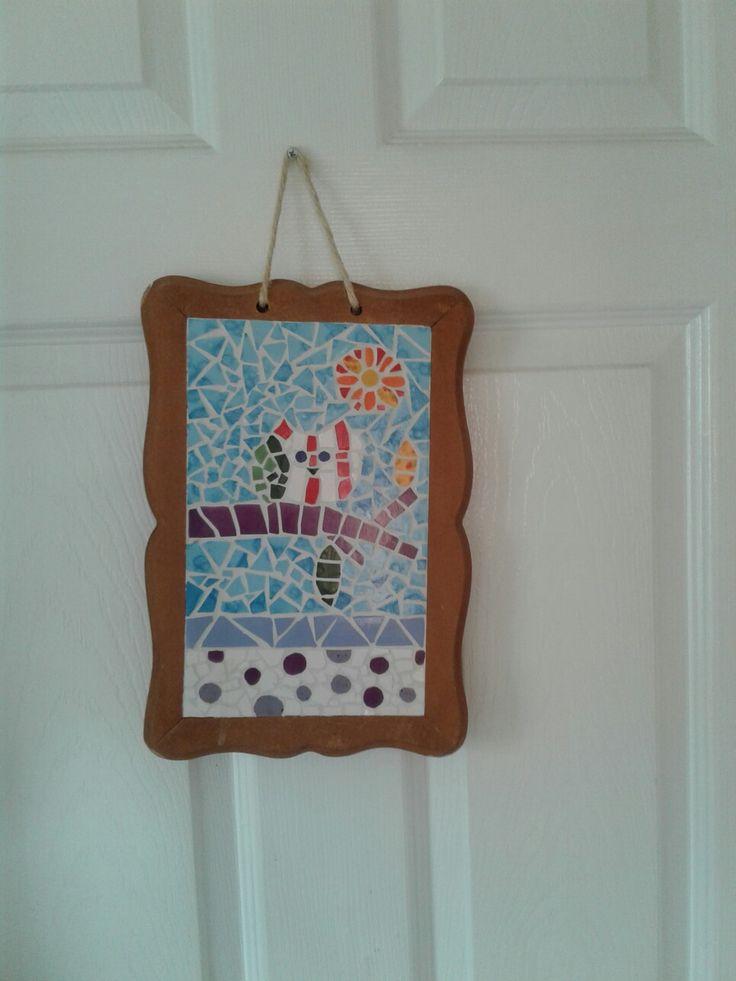 Cuadro decorativo en pieza de niña .