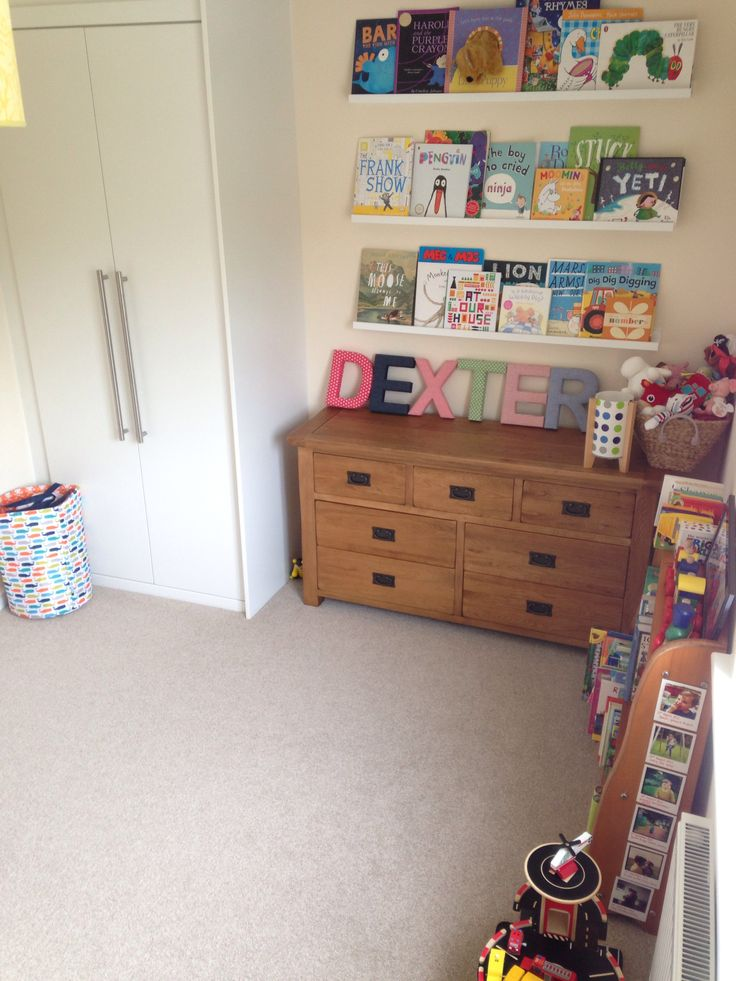 Ikea Ribba picture rails as book shelves | baby time ...
